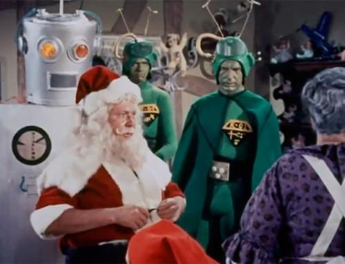 Primera interacción Papá Noel y robot: Santa Claus conquista a los marcianos