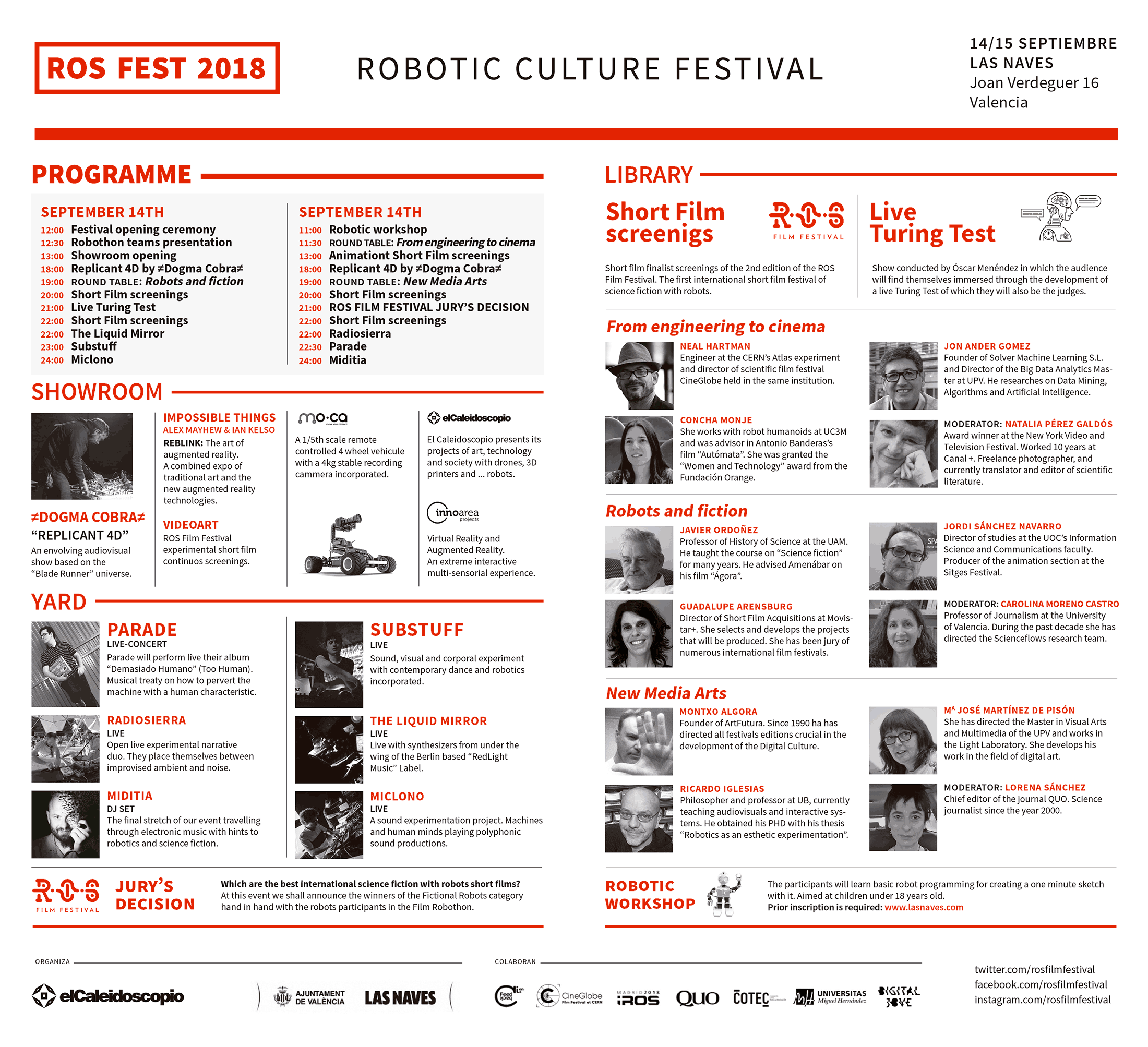 ROS FEST 2018, Robotic Culture Festival