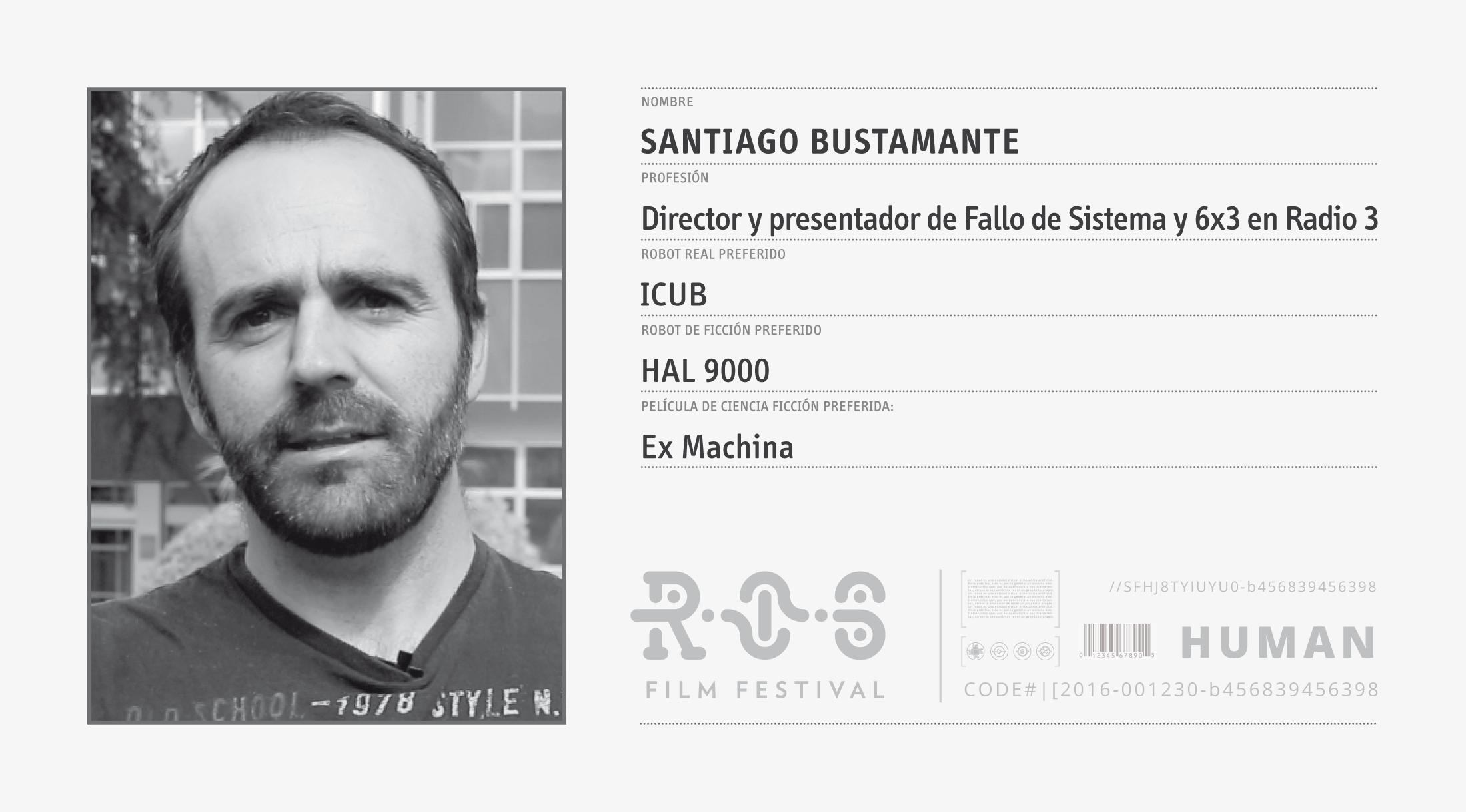 Retrato Robot: Santiago Bustamante